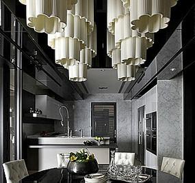 现代餐厅厨房花型灯具