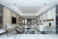 现代客厅MAX模型
