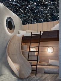 星空主题儿童卧室设计