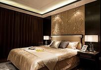 中式典雅大气卧室香槟金色