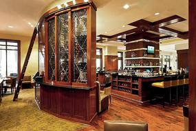 餐厅酒柜吧台空间