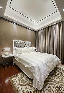 大气香槟金卧室印花地毯