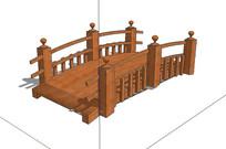 公园木桥su模型