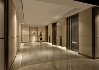 公寓标准层电梯厅 JPG