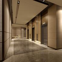 公寓一层公共电梯厅 JPG