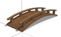 简单木桥SU模型