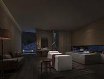 酒店按摩空间效果图 JPG