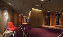 酒店电梯集散区布置 JPG