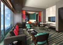 酒店客房时尚设计 JPG