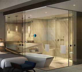 酒店客房卫生间设计 JPG