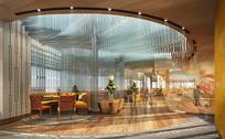 酒店沙发餐间设计效果图 JPG