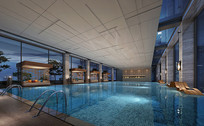 酒店室内泳池效果图 JPG