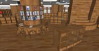 木质儿童书吧室内设计
