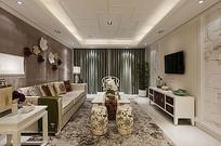 室内客厅灰色系家居装饰