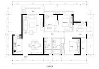 室内三室两卫平面图