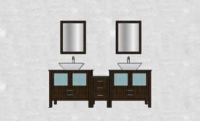 双人洗手台组合