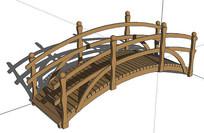 现代木桥SU模型