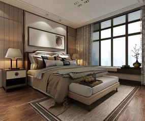 现代暖色系卧室设计