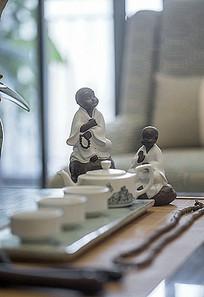 中式古风茶具弥勒和尚