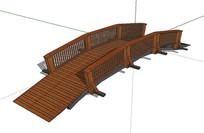 中式木桥SU模型