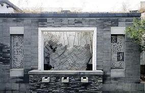 中式主景浮雕景墙