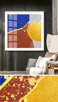 抽象简约北欧手绘客厅装饰画