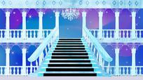 高清大屏公主水晶宫殿背景图