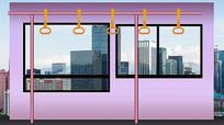 公交车车厢内室静态背景图