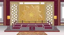 古代宫廷后妃大厅背景图
