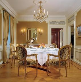 奢华豹纹餐椅空间布置