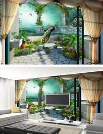 3D梦幻森林背景墙壁画