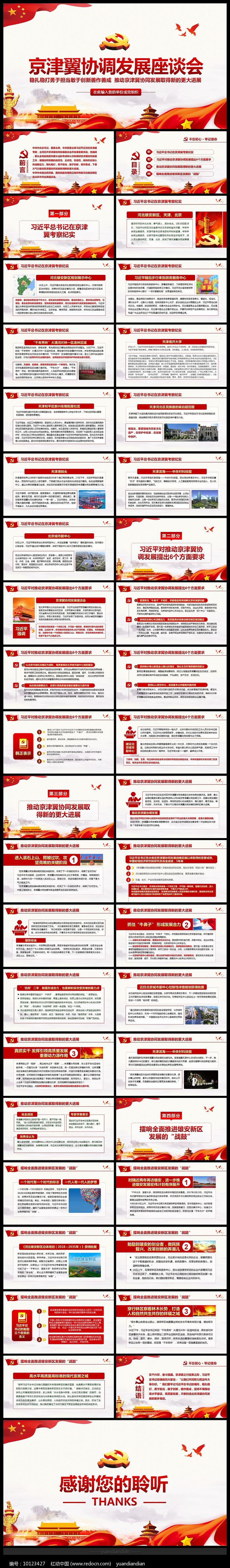 京津冀考察河北雄安新区PPT图片