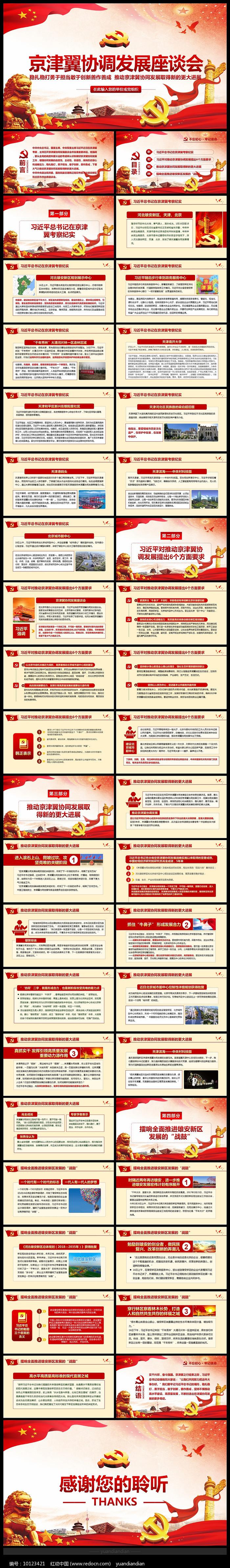 京津冀考察协同发展PPT图片
