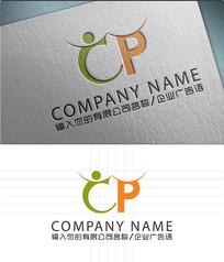 CP字母logo标志设计