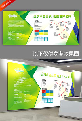 大气绿色企业文化墙宣传栏