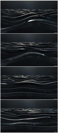 黑色液体波浪视频素材