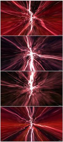 红色光线隧道快速穿梭视频素材