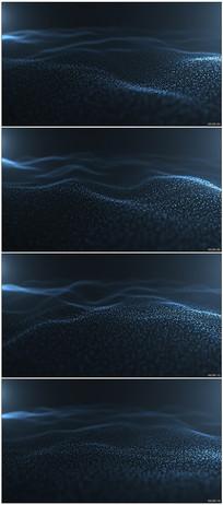 蓝色粒子波浪起伏舞台背景视频素材