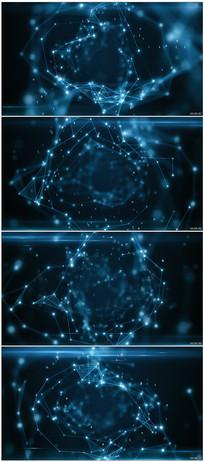 蓝色数字科技背景视频素材
