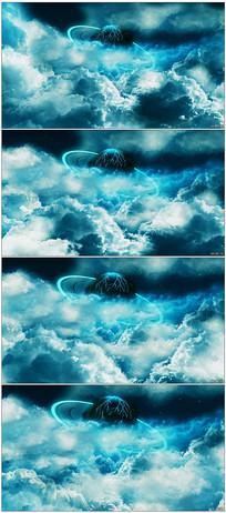 蓝天白云天空云层背景视频素材
