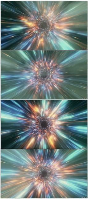 粒子光线时空隧道穿梭视频素材
