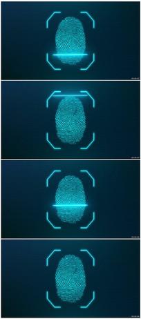 虚拟成像指纹扫描视频素材