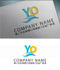 YO字母LOGO标志设计