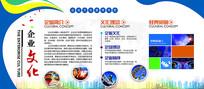 蓝色简约时尚扁平化企业文化墙