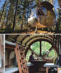 山林中的机舱旅舍