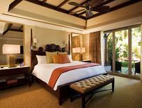 中西结合客房卧室设计