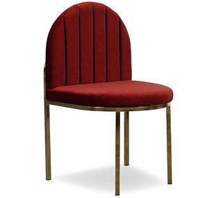 酒红色半圆形吧台凳