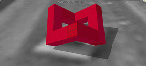 集装箱式创意雕塑SU模型