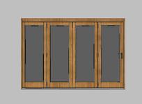 木质现代联排门