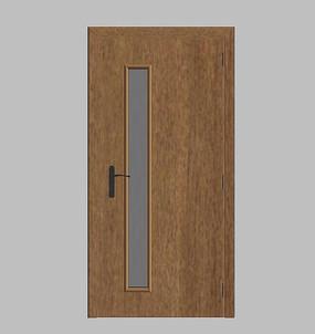 现代极简卧室门